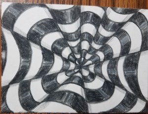How-to-Draw-Op-Art-Bullseye-Finished-Drawing-With-Highlights-and-Shadows
