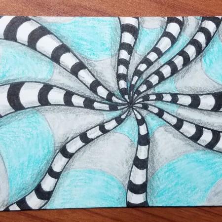 7-Day-Drawing-Challenge-Op-Art-Tim-Burton-Inspired-ATC