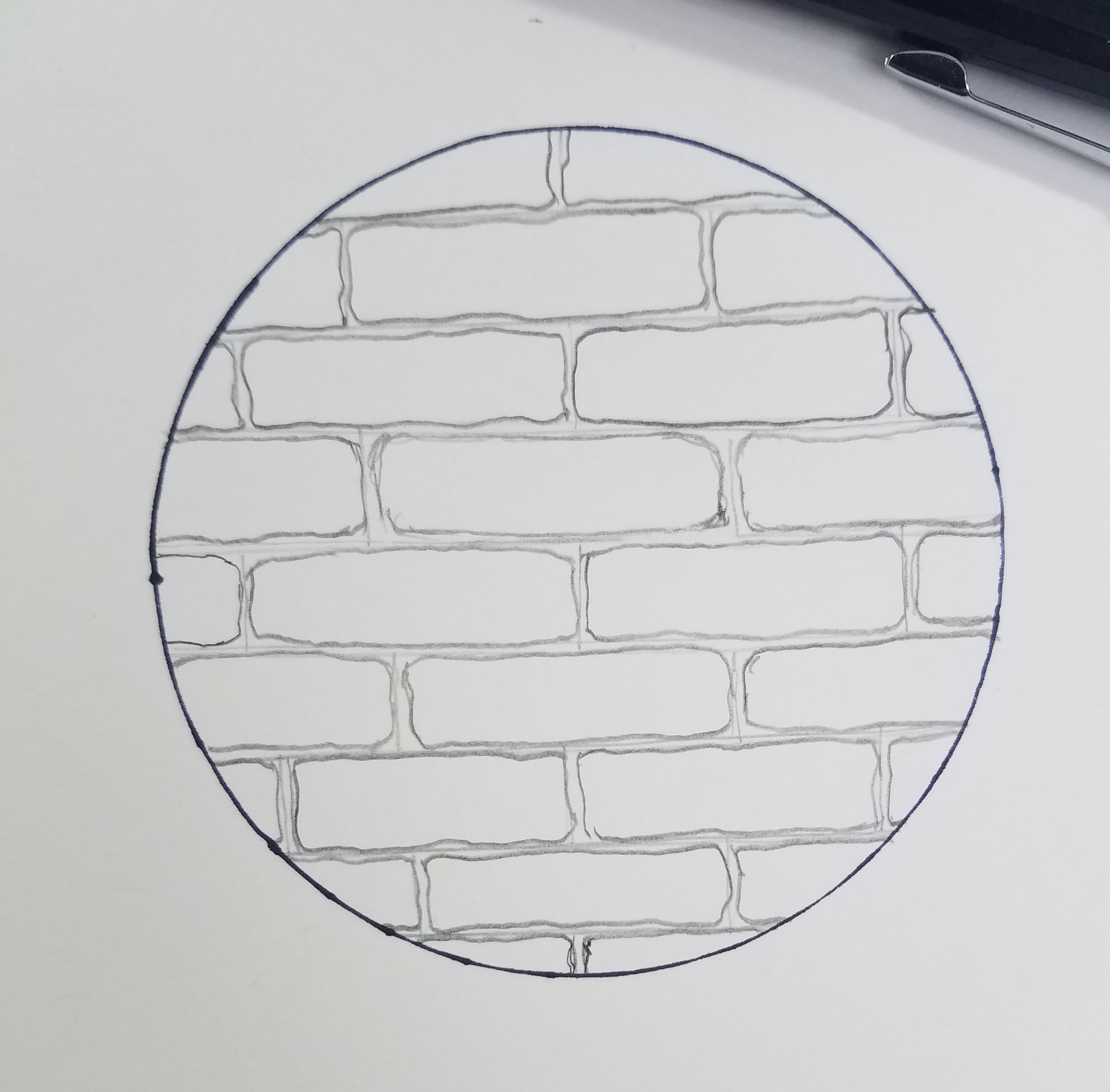 How To Draw A Brick Wall Art By Ro