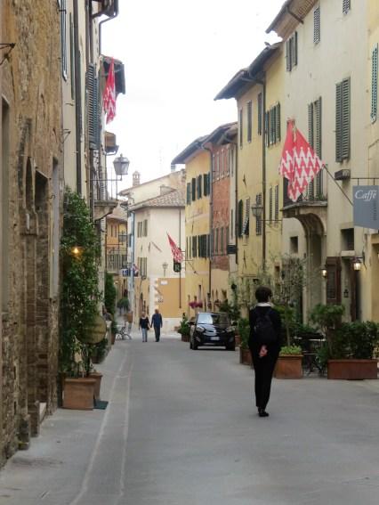 Quaint little hill town street