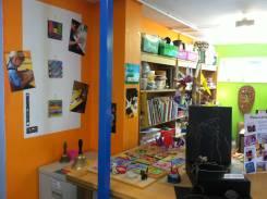 Artwork display and storage shelves