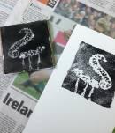 Printing onto paper. We used Somerset velvet paper.