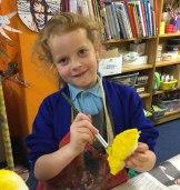 Painting the banana