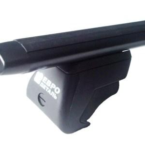 Поперечины Евродеталь с креплением на рейлинги аэро (черное) 110 см, Lada Vesta