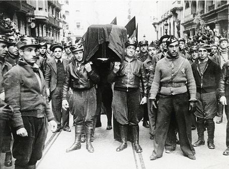 Enterrament de Buenaventura Durruti, Estudi Pérez de Rozas, 1936