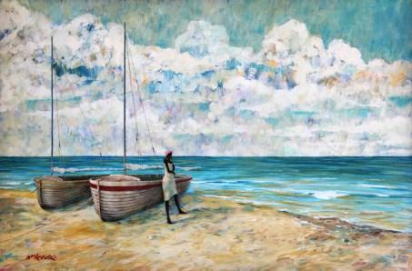 Gloria Bill Kreutz Acrylic Canvas36 by 20
