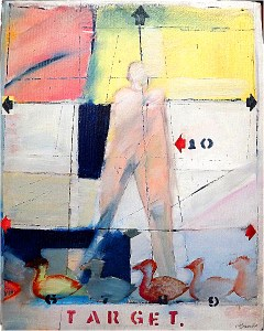 Target (sitting duck)20x16 repro Michael Burke