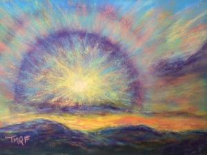 Terri Quinn Sun Circle Pastel