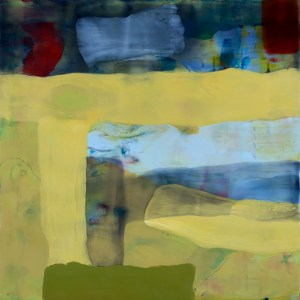 """BEDROCK 3 (2014) by Kathy Cantwell. Encaustic / 12"""" x 12"""" x 1"""""""