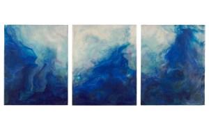 Sheri Marcus - Turbulence, tryptic 24x10