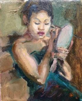 %22Javanese Dancer putting on make-up%22by Sandra Ronda