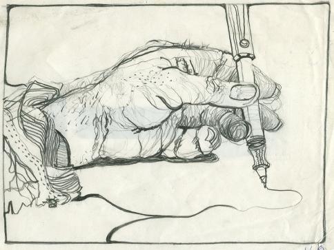 1Larry Le Brane_BW Drawing_ pencil