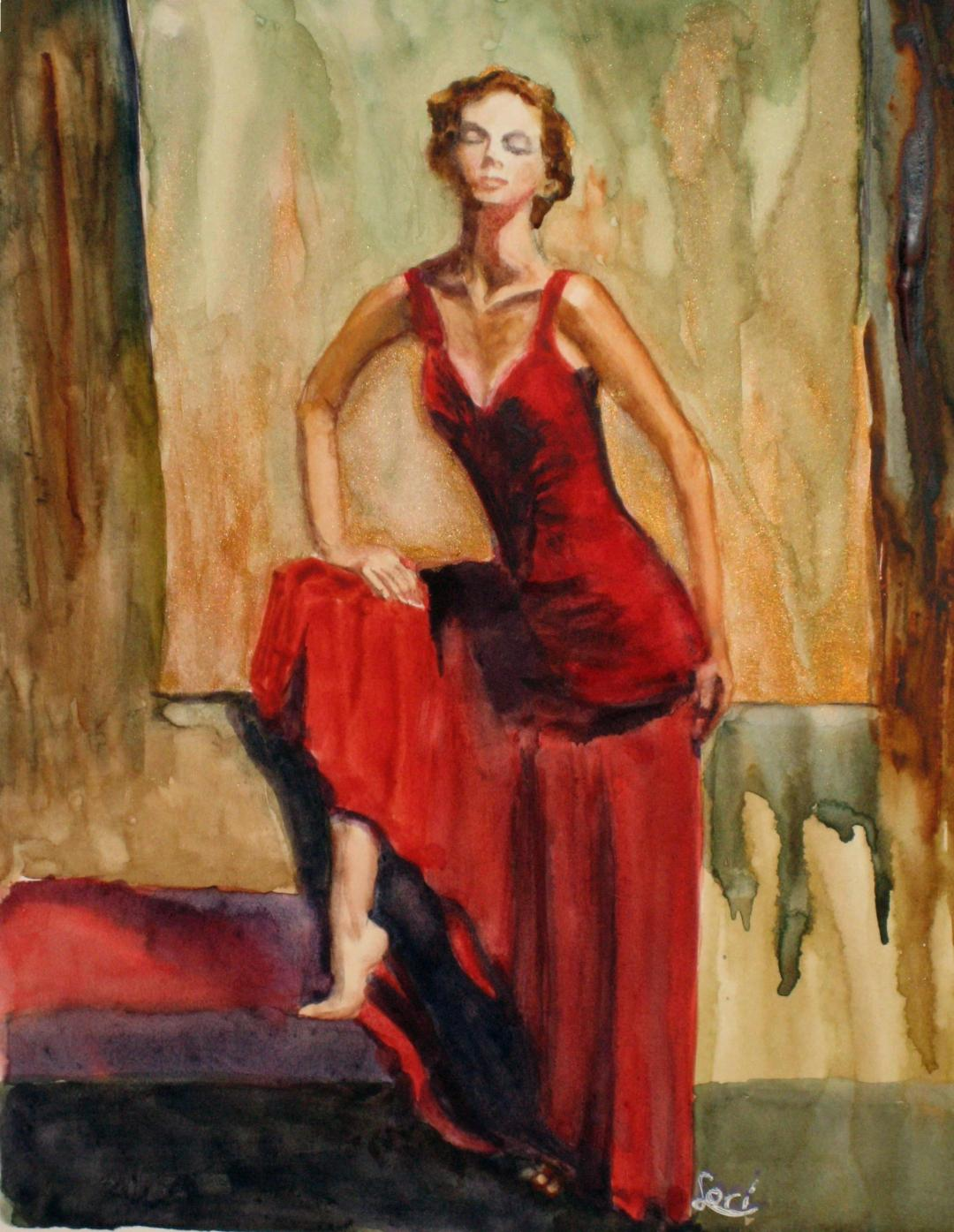 """Lori Sonnaband """"Lady in Red"""""""