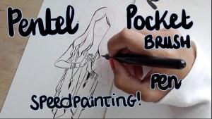 Pocket brush painting