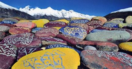 Mani Stones n Prayer Flags 2