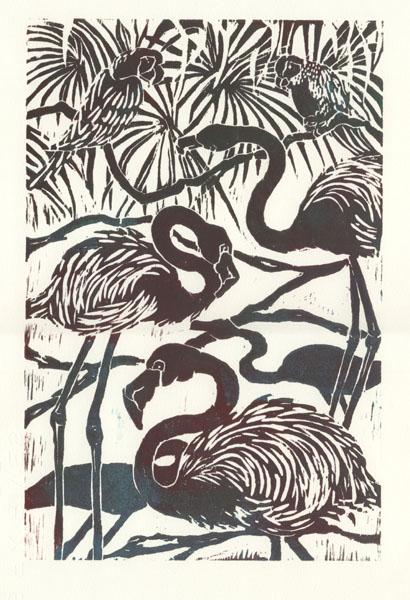 Tricia Reichert - Flamingoes