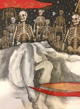 Looming (sketchbook) Rebecca Geddes 10.5x13