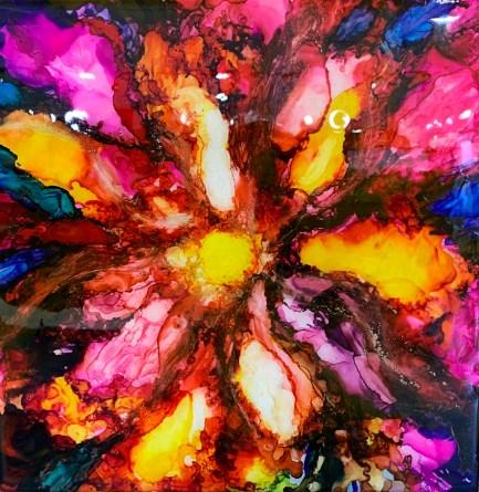 Terri Quinn-Faucette - Inspiration - Alcohol Ink & Epoxy Resin on Tile - 285
