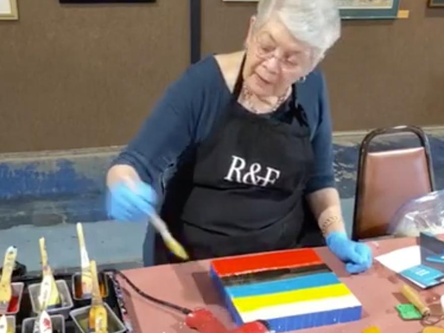 Flo Bartell - Encaustic Painting Demo