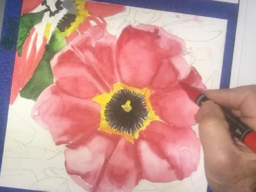 Franz Spohn - Watercolor Markers Demo
