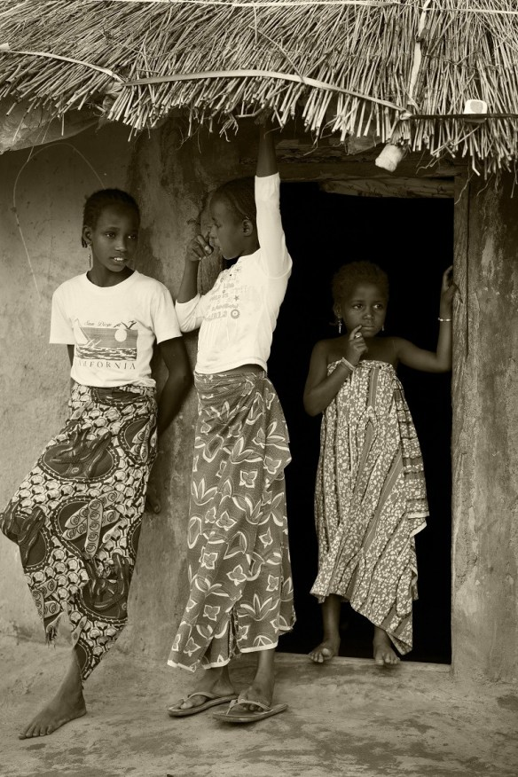 Image: Three Girls, Black and white photo of Fulani girls from Northern Nigeria by Aisha Augie-Kuta show a new direction in portrait photography