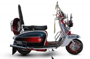 Image - antique bike- a replica of the iconic Lambretta scooter ridden by actor Phil Daniels - aka 'Jimmy'- in Quadrophenia set to get another rider at Bonhams