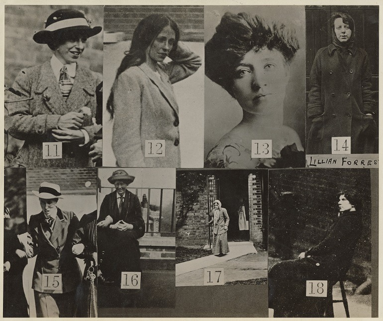 Image - Surveillance Photographs of Militant Suffragettes by Criminal Record Office, 1914 is part of the display of photographs at the National Portrait Gallery, London. The Suffragettes were fighting for women's right to vote-art review