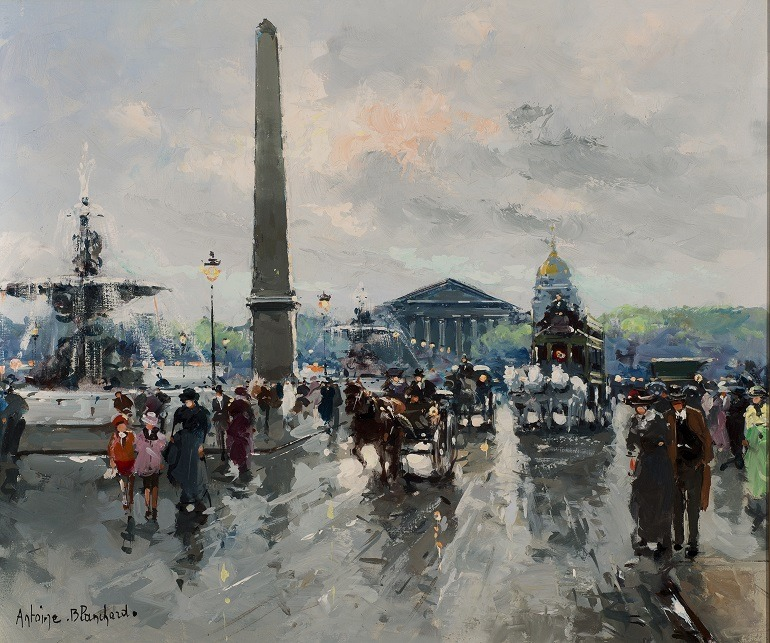 Image: Oil on canvas painting titled 'Place de la Concorde' by Antoine Blanchard (1910 -1988), is one of the paintings to feature at Baltimore Summer Antiques Show at the Baltimore Convention Center