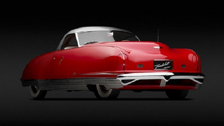 Image of Chrysler Thunderbolt, 1941  one of the cars  in the High Museum of Art Atlanta.   Ralph Roberts designer, Alex Tremulis, designer Briggs Body Works, American, 1909-1954