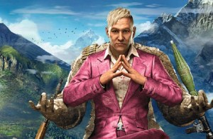 Image of oppressive leader Pagan Min in Far Cry 4′s, a video game that is giving video game players great excitement