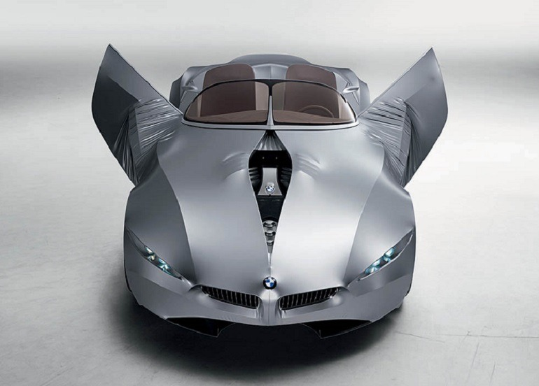 Image -BMW GINA Light Visionary Model with the headlights, doors, and engine cover open is one innovative designer cars at the High Museum of Art Atlanta
