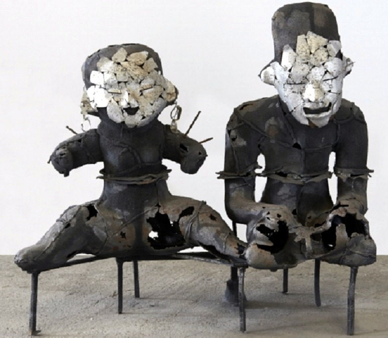 Image: Metal sculpture of Sacred Couple by Xavier Mascaró, a renowned Spanish and Latin American artist