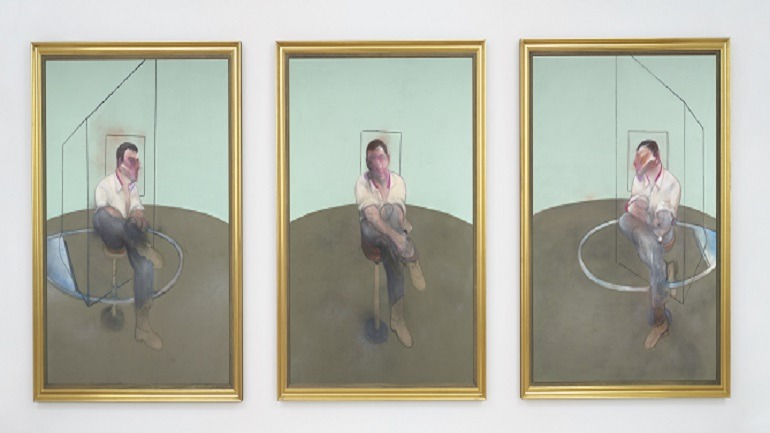 Christie's Begins 2015 Celebrating 2014 Record Art Auction Result Image: Francis Bacon, Three Studies for a Portrait of John Edwards, oil on canvas, in three parts, painted in 1984.  Sold during Post-War & Contemporary Art Evening Sale in  New York