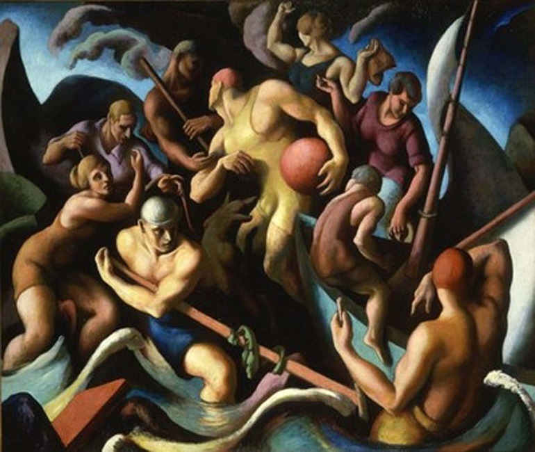 Image: 'People of Chilmark' by American painter Thomas Hart Benton is one of the great example of figurative paintings