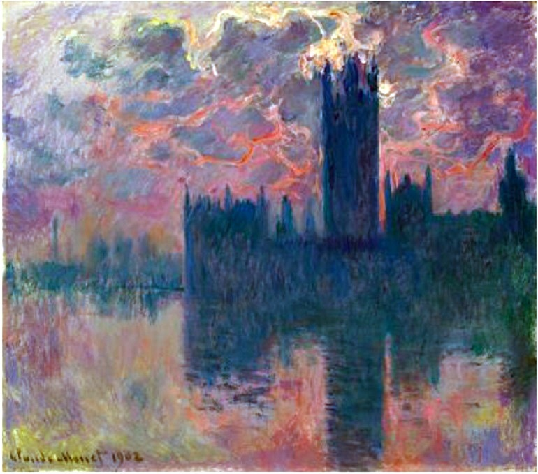Image: Claude Monet Le Parlement, soleil couchant is one painting expected to archive record auction price at Christie's auction