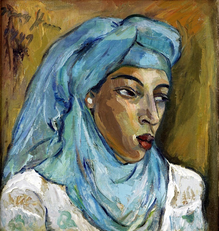 Image: Irma Stern, Woman with Blue Scarf, oil on canvas, got the heart of collectors at Bonhams auction, attracting record auction prices and brought attention  to African art
