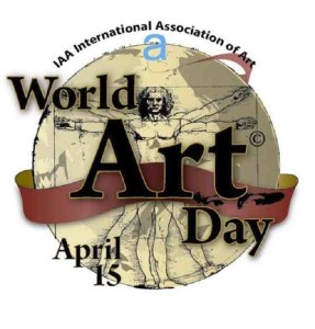 Image: Logo of World Art Day instituted by International Association of Art aimed at art celebrations across the globe