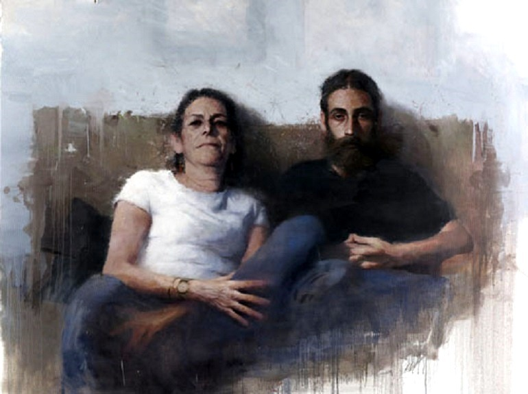 Image: Borja Buces Renard , My Mother and My Brother on a Sunday Evening, 2014, an oil on Canvas painting won third prize in BP Portrait Award