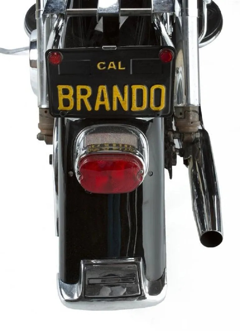 Image: Marlon Brando Motorcycle sold at Julien's Auctions where Marilyn Monroe's grave marker was the top lot-News