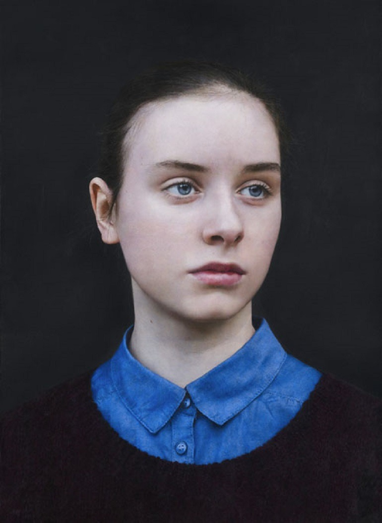 Image: Michael Gaskell, Eliza 2015, Acrylic on Board won Second prize in BP Portrait Award 2015-Art Painting