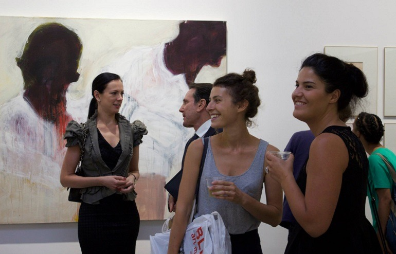 Image: Guests at the opening of the exhibition 'Guess Who's Coming to Dinner'-Art