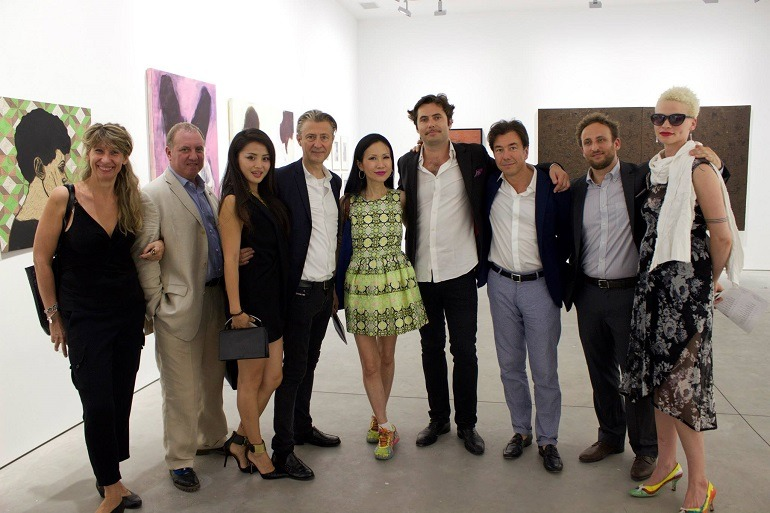 Image: Matthew, Drutt-Jerome,Sans-Chiu Ti, Jansen Jerome, Neutres-and DavidGimbert at the exhibition opening Guess Who's Coming to Dinner?-Art.2