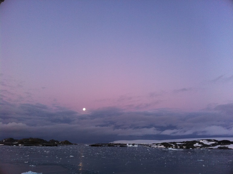 Image: L.S. Glasergreen's I See the Moon, is one of his stunning photographs of Antarctica