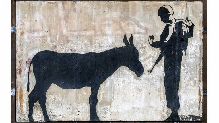 Banksy West Bank Mural 'Donkey Documents' Set for Auction