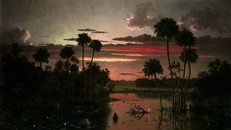 Image: Martin Johnson Heade, The Great Florida Sunset 1887, from the Alfred Taubman art collection to be sold by Sotheby's