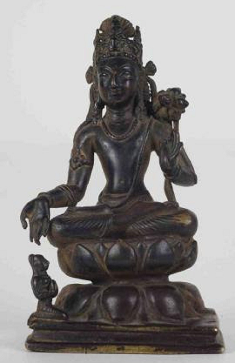 Image: Seated Padmapani, Pakistan, Swat Valley, c. 6th–7th century, bronze, 15.2 cm (6 in), is one of the main features at Fine art Asia