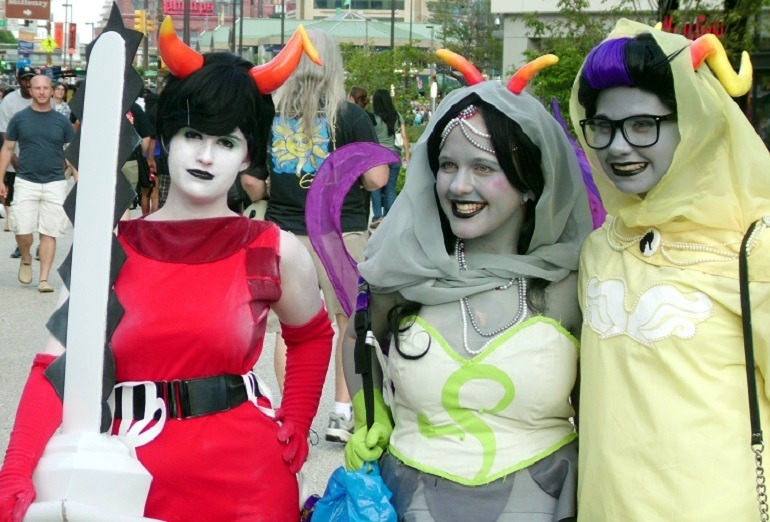 Image: Fans of anime culture at Otakon in Baltimore, an annual cultural art event that has helped the growth of contemporary art galleries in Maryland