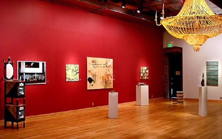 Image: Installation view at the Maryland Art Place, one of Baltimore's top contemporary art galleries