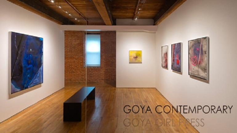Image: Installation view of 'Places To Be' by Sally Egbert at the Goya Contemporary art Gallery