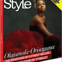 Image: Olajumoke Orisaguna on the cover of Thisday Style, in a story of how a beautiful women who sells bread in Lagos became a top model